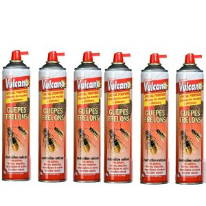 AÉROSOL ANTI GUÊPES FRELON 600 ML LOT DE 6